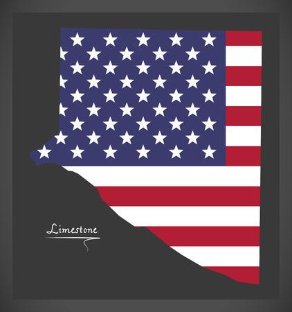미국 국기 그림에서는 알라 바 마 미국의 석회암 카운티지도