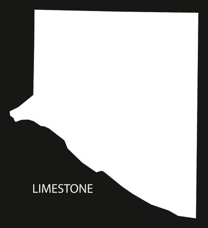 Limestone county map of Alabama USA black inverted illustration Banco de Imagens - 83690672