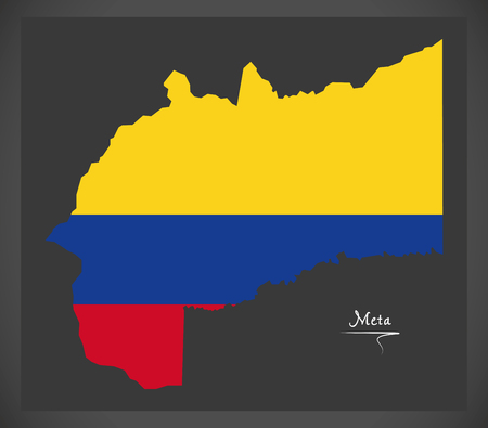 Meta map of Colombia Illustration