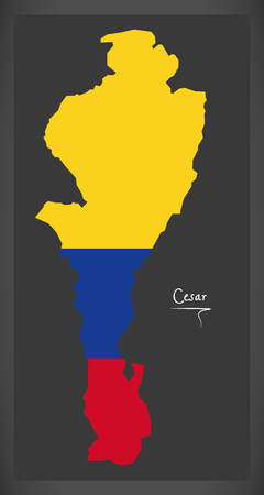 Cesar map of Colombia