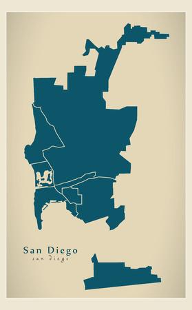 近代都市図 - アメリカのサンディエゴ市