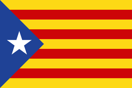 politic: Flag of Catalonia illustration