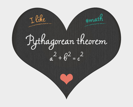 Pythagorean theorem - I like math illustration Illustration