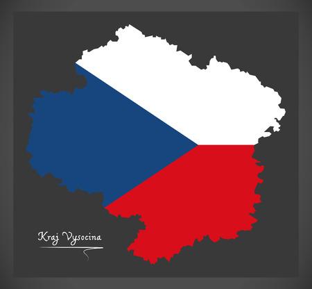 Kraj Vysocina map of the Czech Republic