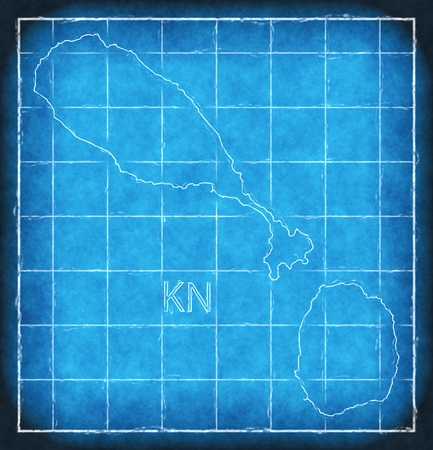 St lucia map blue print artwork illustration silhouette stock photo 90236731 st kitts and nevis map blue print illustration silhouette malvernweather Gallery