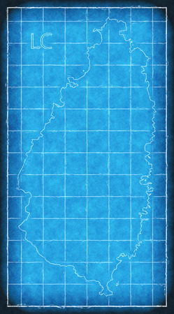 St lucia map blue print artwork illustration silhouette stock photo illustration st lucia map blue print artwork illustration silhouette malvernweather Gallery