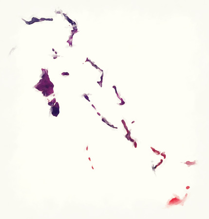 Bahamas watercolor map in front of a white background Stock Photo
