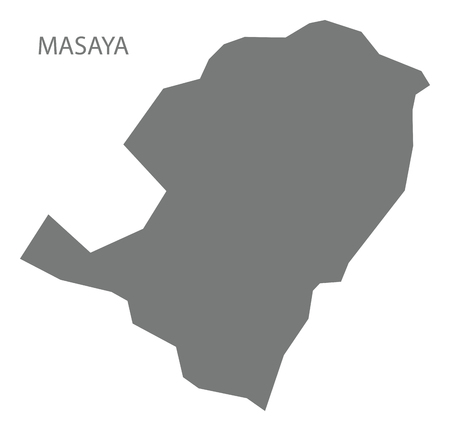 Masaya map of Nicaragua grey illustration silhouette shape