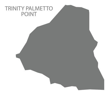 Trinity Palmetto Point map grey illustration silhouette shape