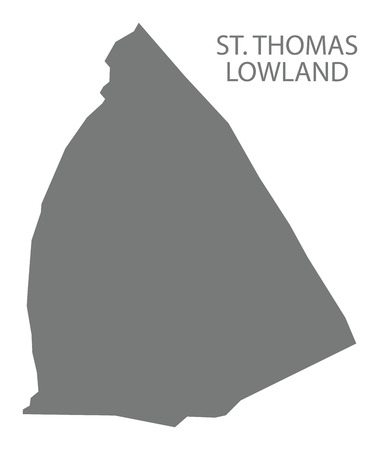 St. Thomas Lowland map grey illustration silhouette shape