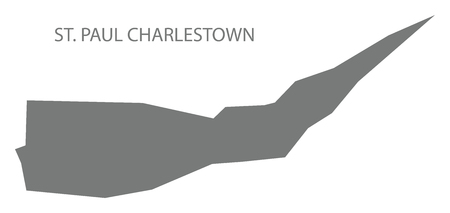 St. Paul Charlestown map grey illustration silhouette shape