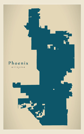 Modern Map - Phoenix city of the USA