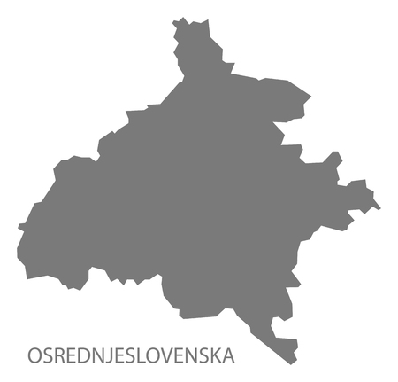 Osrednjeslovenska map of Slovenia grey illustration shape