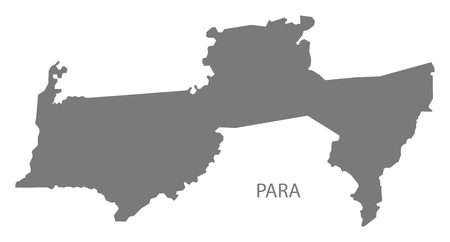 Para map of Suriname grey illustration shape