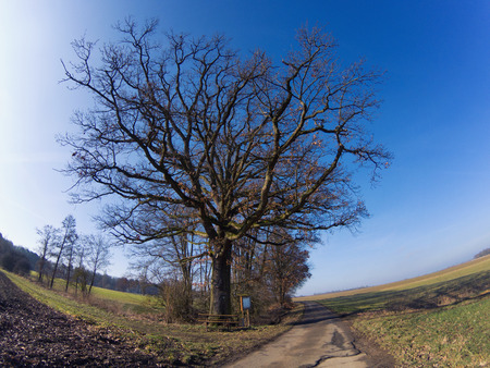 Rural landscape view in Bavaria Germany Stock Photo