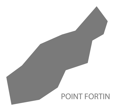 Point Fortin map of Trinidad and Tobago