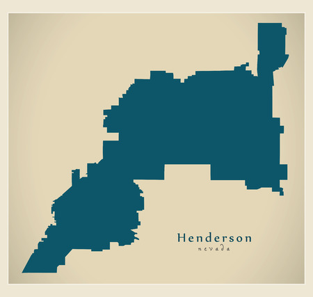Modern City Map - Henderson Nevada city of the USA