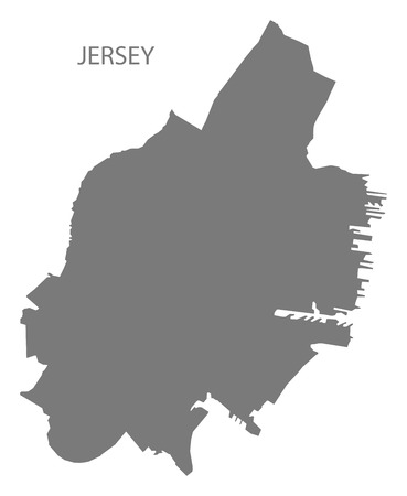 Jersey New Jersey city map grey illustration silhouette shape