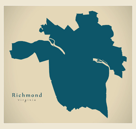 Modern City Map Richmond Virginia City Of The Usa Royalty Free