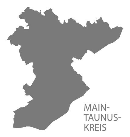 Main-Taunus-Kreis grey county map of Hessen Germany Stock Vector - 123112138