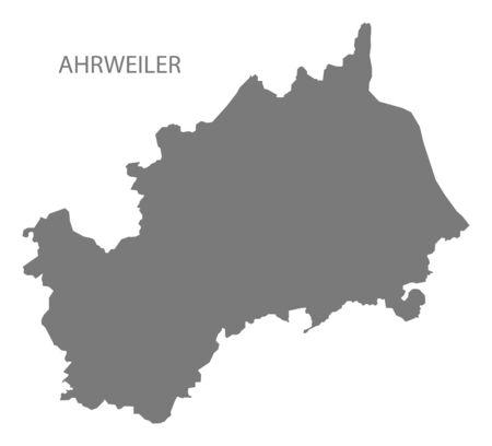 Ahrweiler grey county map of Rhineland-Palatinate DE