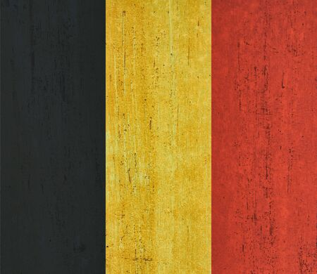 Belgium flag background in vintage style