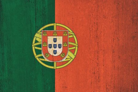 Portugal flag background in vintage style Imagens