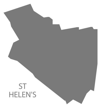 St Helens grey ward map of Chesterfield district in East Midlands England UK
