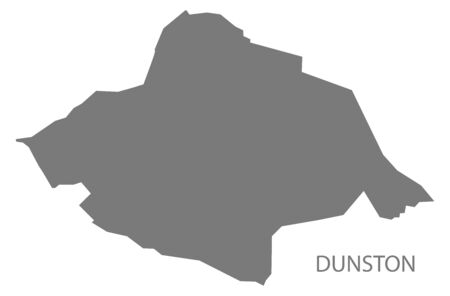 Dunston grey ward map of Chesterfield district in East Midlands England UK