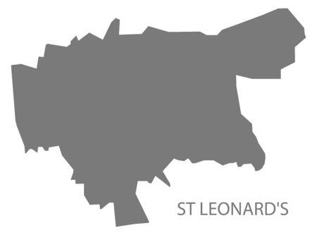 St Leonards grey ward map of Chesterfield district in East Midlands England UK Ilustração