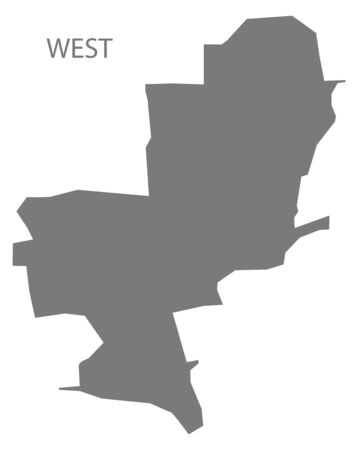 West grey ward map of Chesterfield district in East Midlands England UK