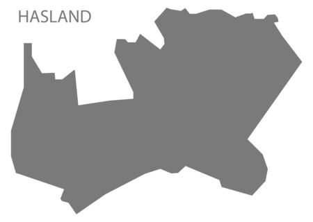 Hasland grey ward map of Chesterfield district in East Midlands England UK