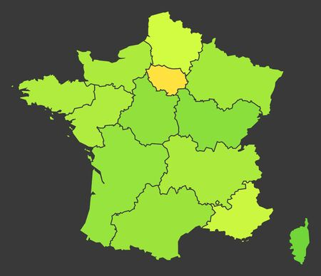 France population heat map as color density illustration Фото со стока