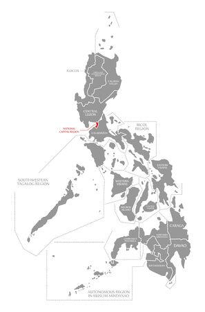 National Central region red highlighted in map of Philippines