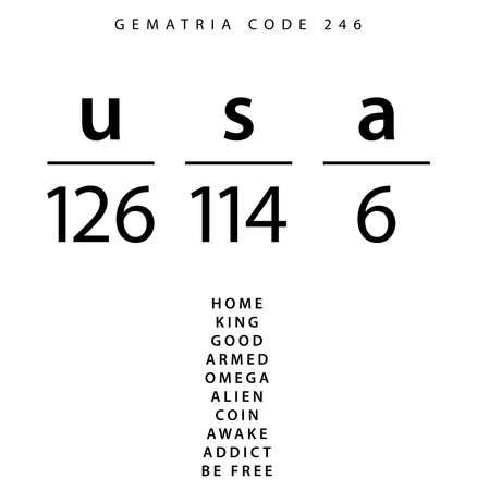 USA word code in the English Gematria