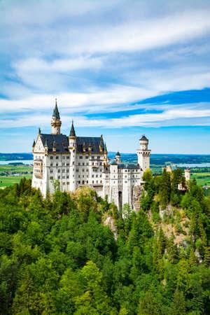 neuschwanstein: Neuschwanstein castle. One of the most famos and beautiful castle in the world