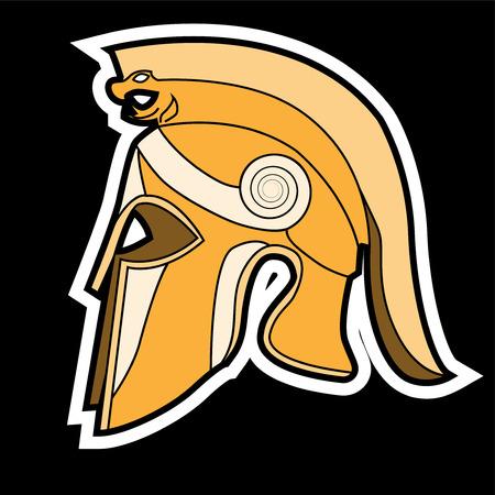 Greek helmet vector illusrtration