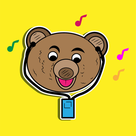 illustration of cartoon bear Stock Photo