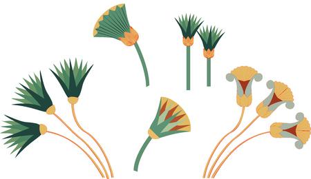 Egypt cane branches set