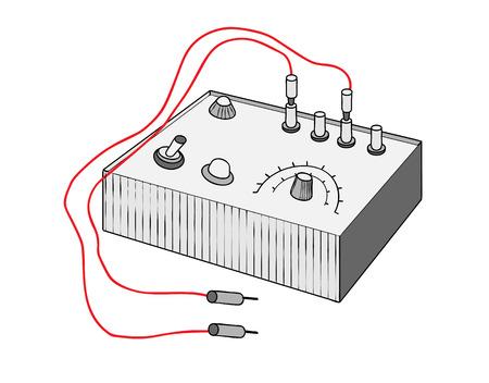 vintage multi tester Vector illustration.
