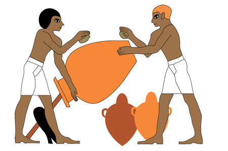 Ancient Egypt ceramists.