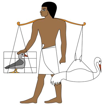 Ancient Egypt farmer. Illustration