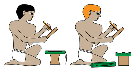 Ancient Egypt scribes.