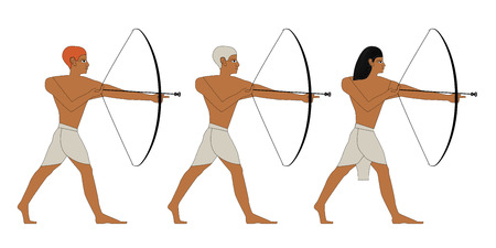 Ancient Egypt archers icon.