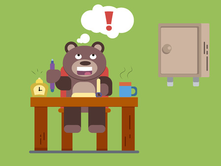 Cartoon brown bear Illustration