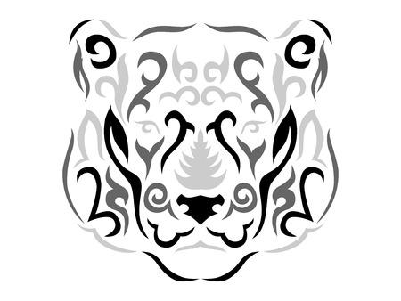 Tribal panther illustration