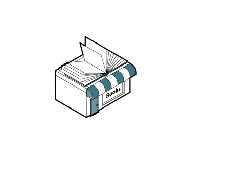 Bookshop building in isometric projection necessary creative designers for web projects. Isometric Bookshop building. Ilustrace