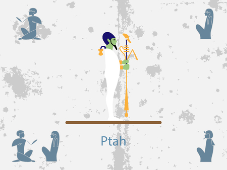 Ancient egypt backgrounds. Thoth. God of Ancient Egypt. God of craftsmen and architects