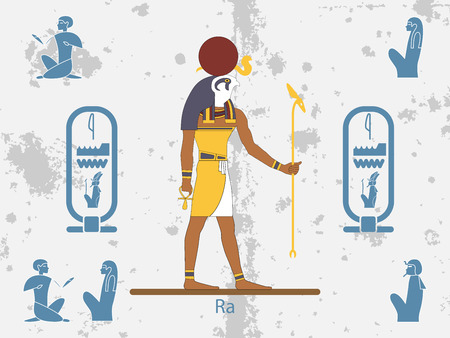 Ancient egypt backgrounds. Sun god - Ra. Sun God of Ancient Egypt. Ra is the ancient Egyptian deity of the sun