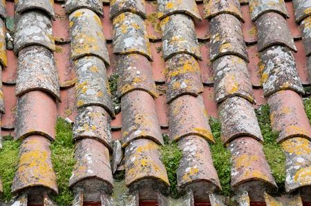A close-up of an aged roof Stok Fotoğraf